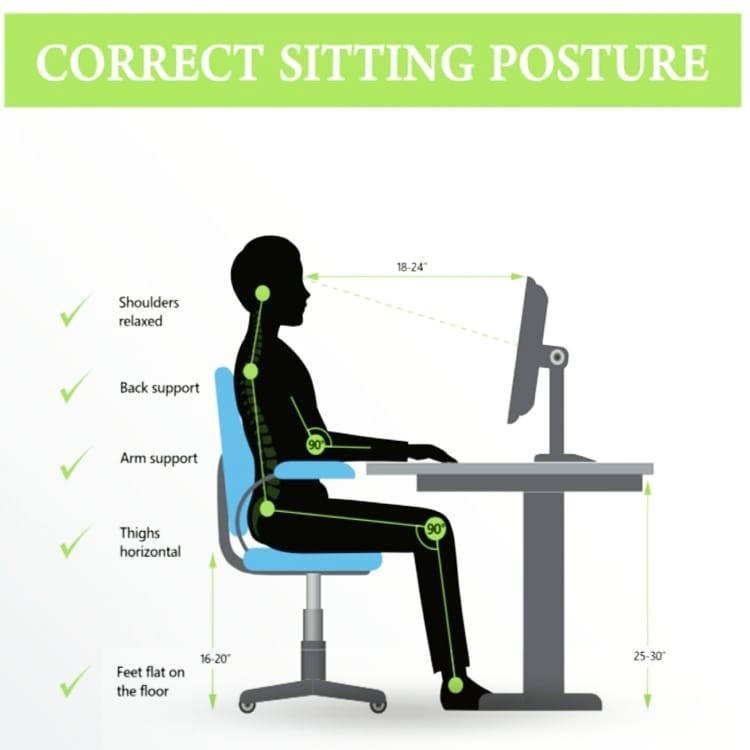 Proper set up and posture at your work at home desk